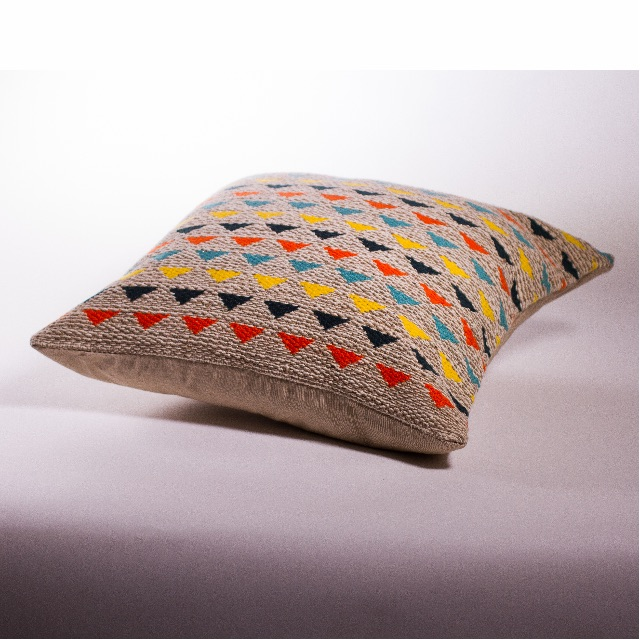 Bright Woven Triangle Cushion Cover 50x50cm