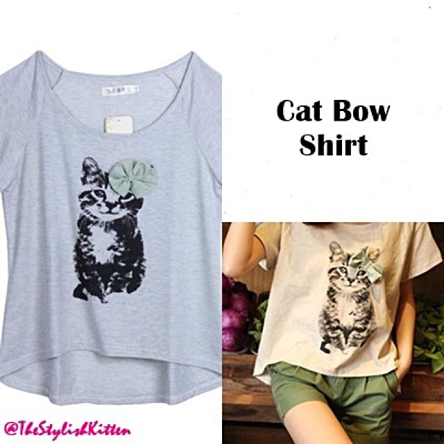 Cat Bow Shirt
