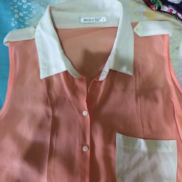 CHIFFON SLEEVELESS ORANGE