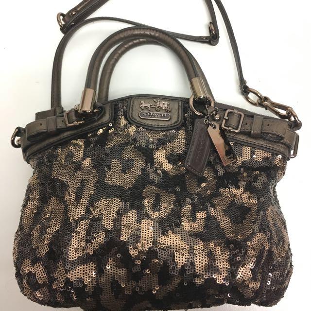 Coach Madison Sequin Mini Sophia Handbag Women S Fashion Bags Wallets On Carou
