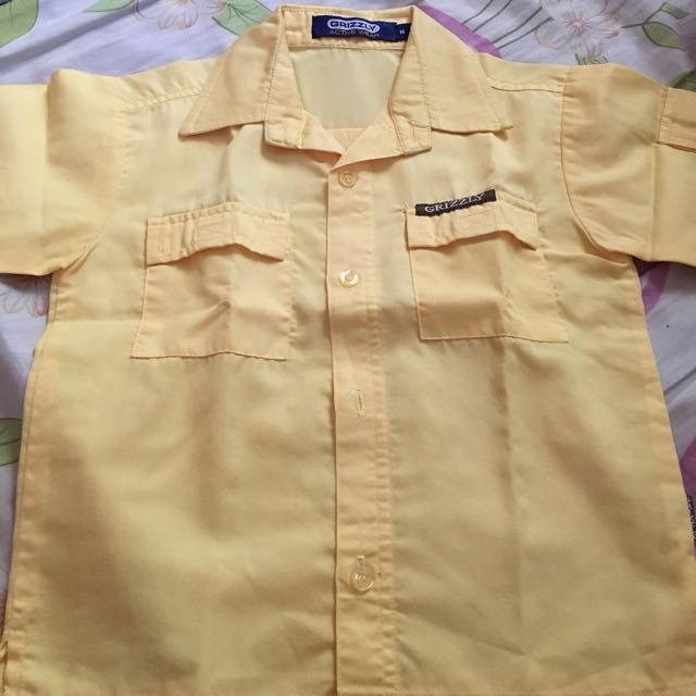 cutie Grizzly yellow polo