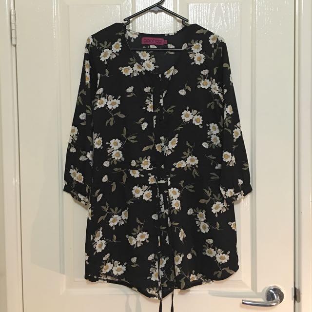 Floral Playsuit - Button Up