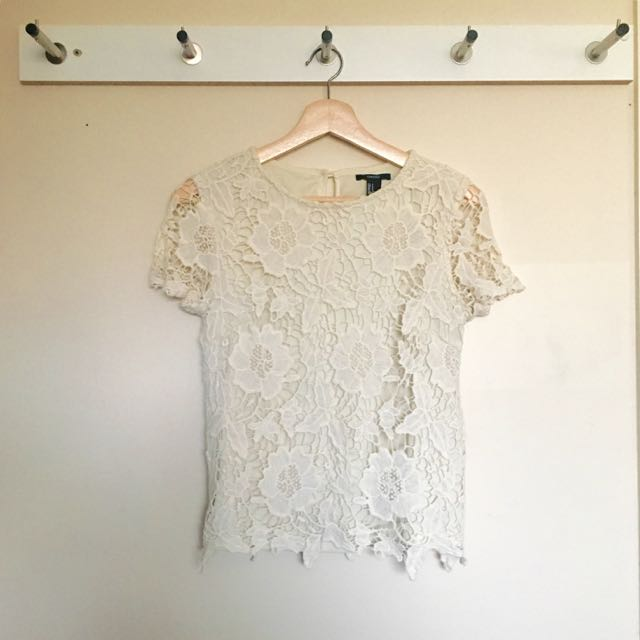 Forever 21 Off-white Top