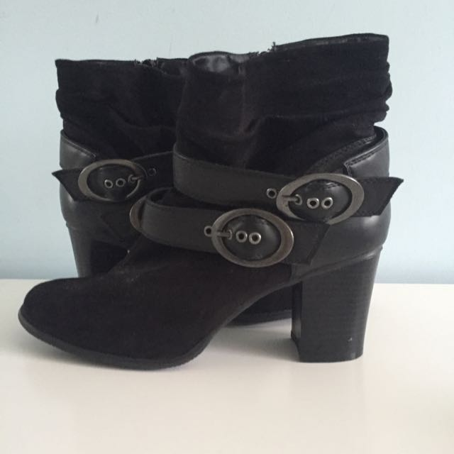 Heel Buckle Ankle Boots