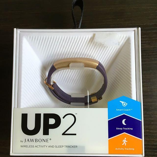 Jawbone UP2 Purple And Gold Like New