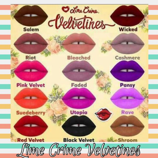 Lime Crime Velvetines Lippies