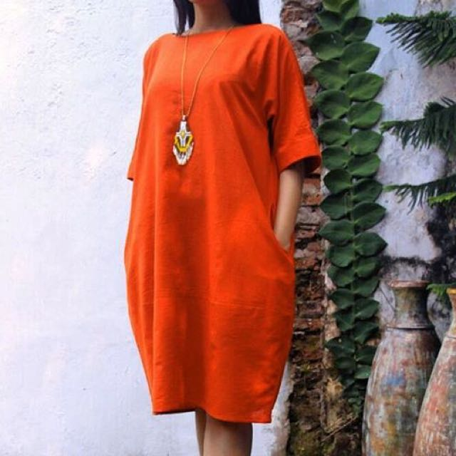 Linen Dress Asli Jogja