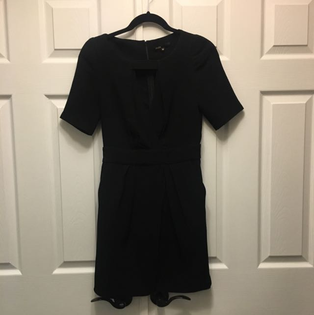 Maje Black Dress 36