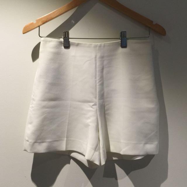 Mango White Formal Pants