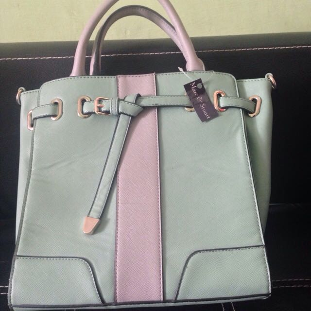 Marc & Stuart - Tosca Green & Grey Hand Bag