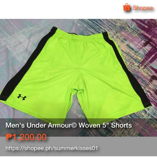 "Men's Under Amour© Launch Woven 5"" Shorts"