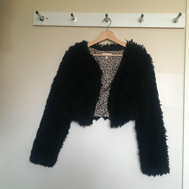 Miss Shop Cropped Fluffy Jacket