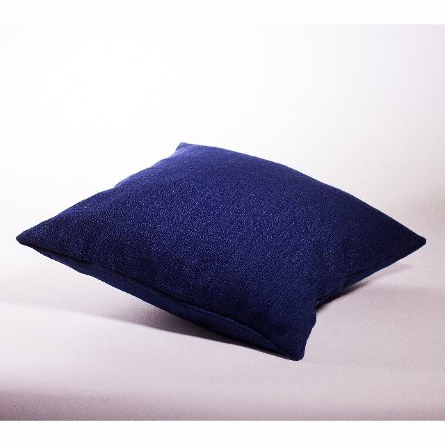 Navy Blue Textured Cushion Cover 50x50cm