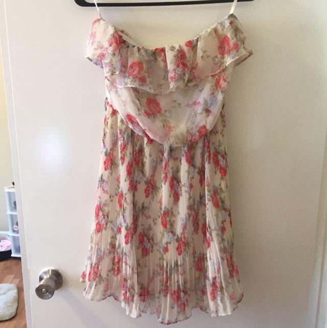 Papaya Floral Dress