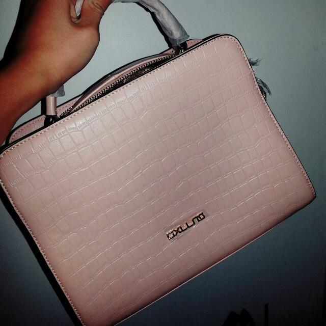 Pink Beige Handbag