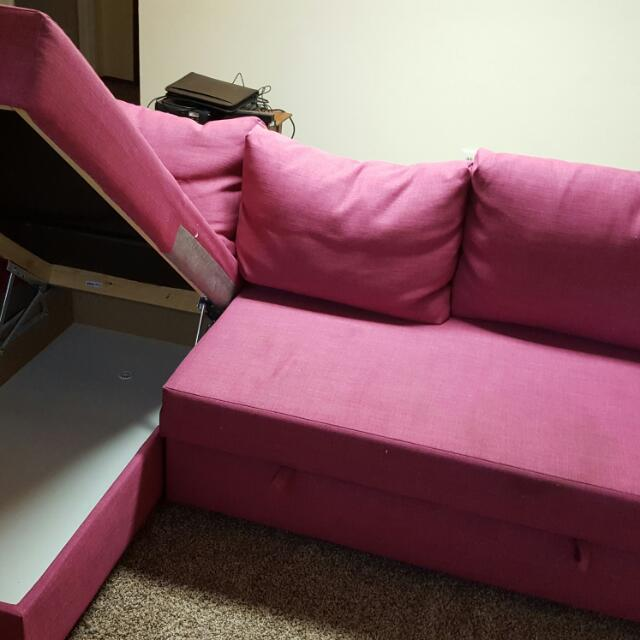 Pink Ikea Couch