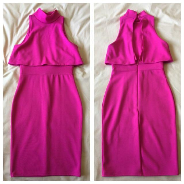 Pink Bodycon Mini Dress