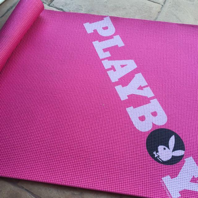 Pink Playboy Yoga Fitness Gym Mat