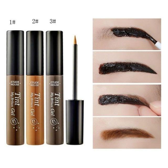 (Closed) Liquid Eyebrow Pencil Long Lasting Peel Off  Tint Gel Tattoo Makeup Eyebrow Cream Dye Color Natural 5g