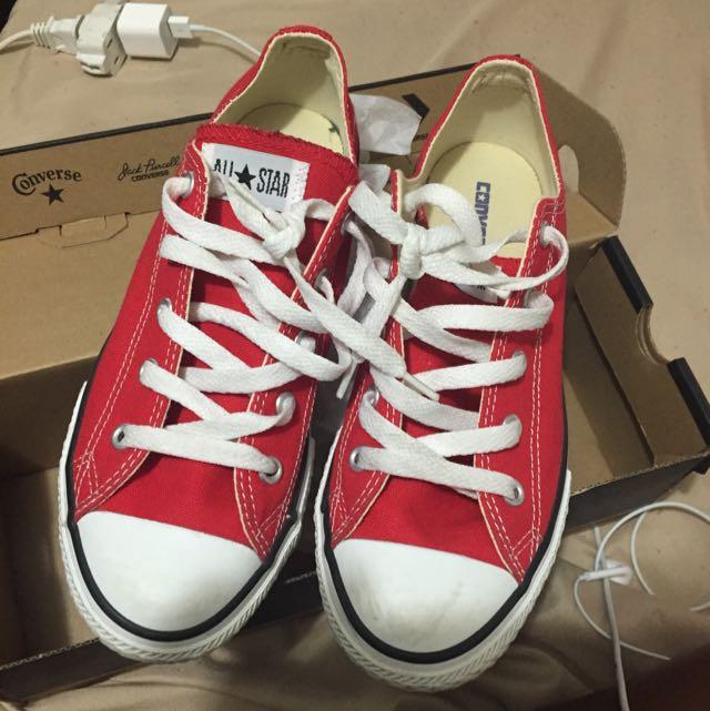 Red chucks/converse