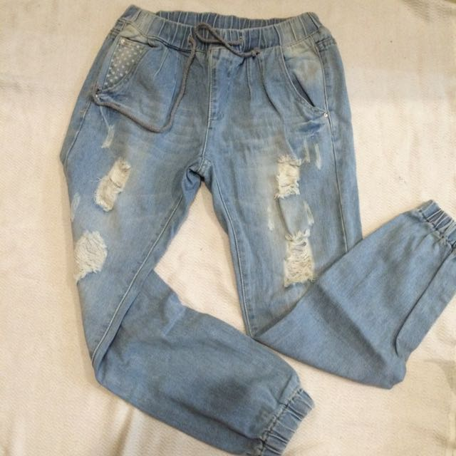 Ripped Jogger Jeans