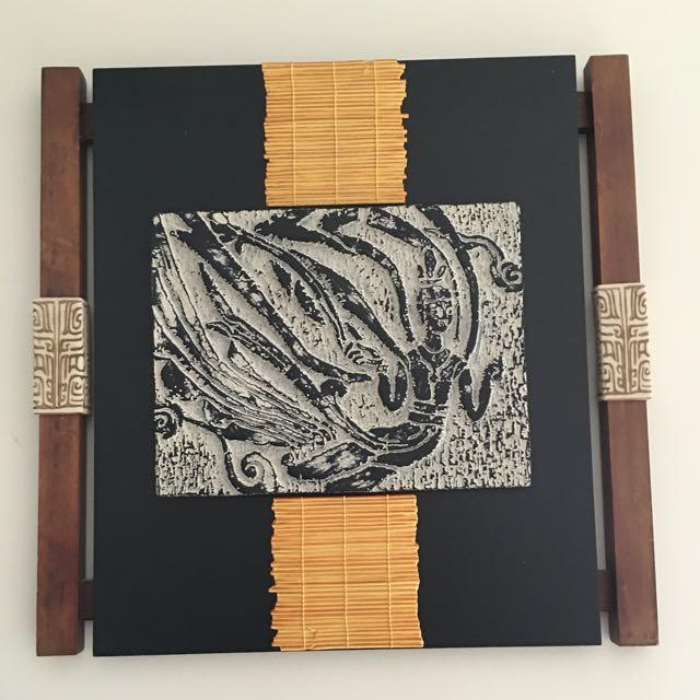 Solid Wood Art Decor Wall Piece