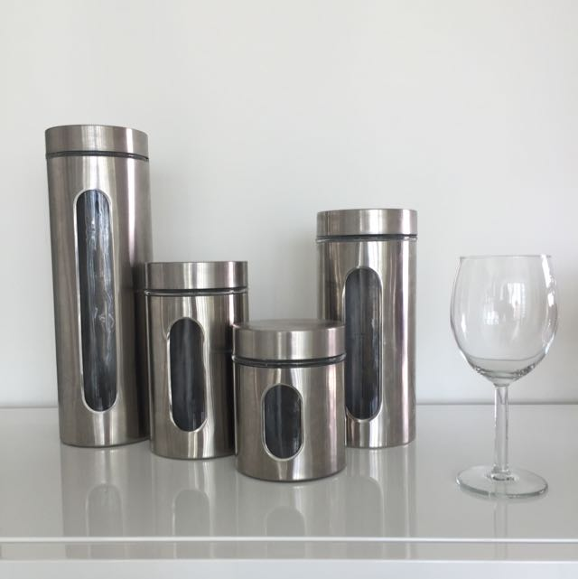 Steel Look Containers - Reserved!
