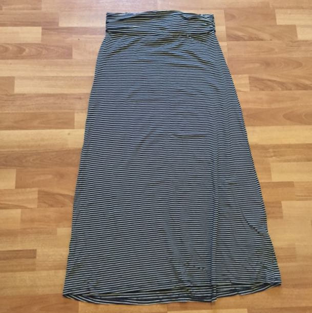Striped Maxi Skirt S