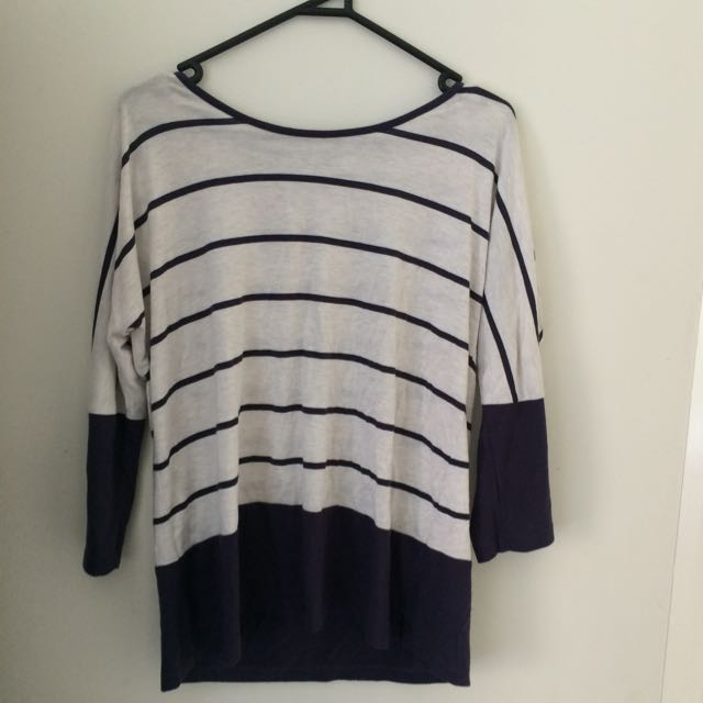 Striped Panel Long Sleeve Shirt