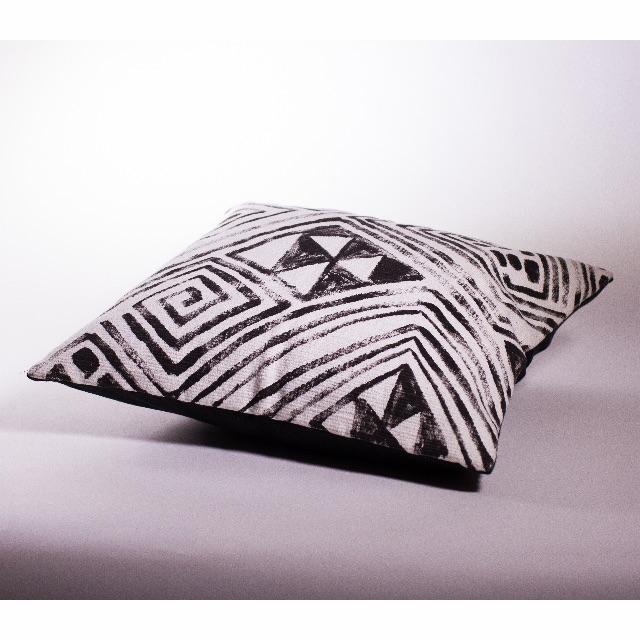 Tapa Cloth Style Cushion Cover 50x50cm
