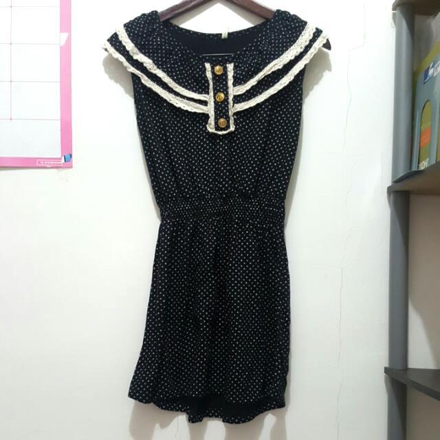 Thailand Label - Black Polkadot Dress