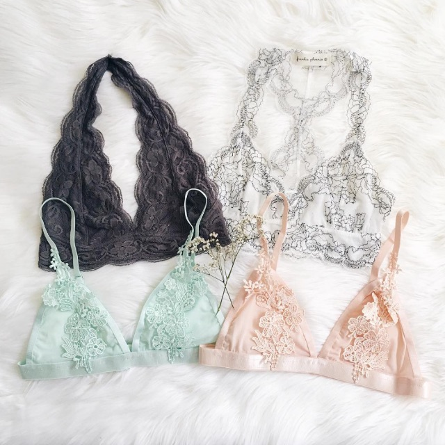 2e4080e1a1 Urban Outfitters Free People Inspired Lace Halter Bralette