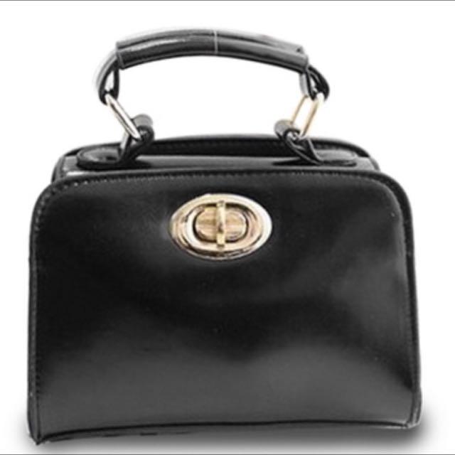 Vintage Style Square Handbag / Cross body Bag