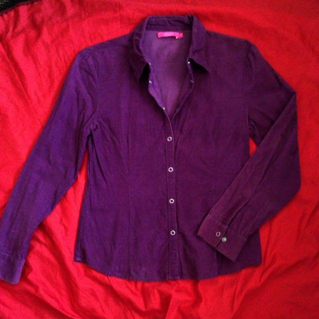 Violet Corduroy polo shirt