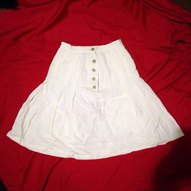 White Highwaist Skirt