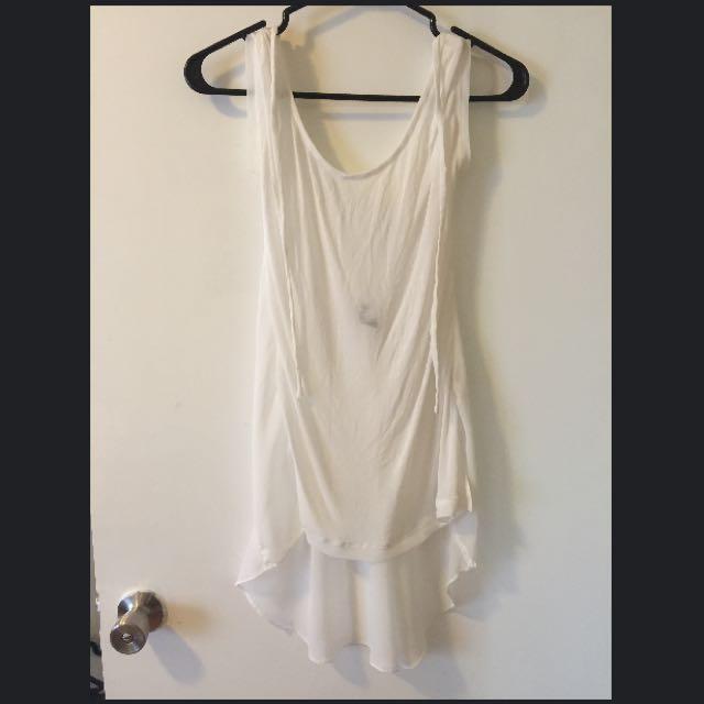 White Transparent Long Shirt