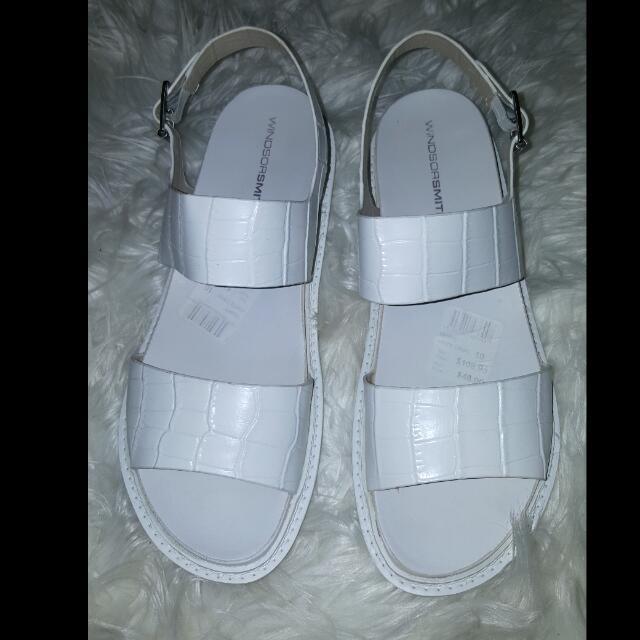 "Windsor Smith ""Tempt"" White Sandals"