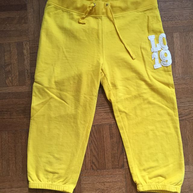 Yellow Sweats Capris