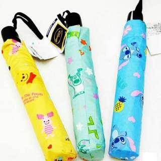 滿版迪士尼 史迪奇 自動傘 大傘面
