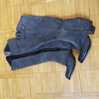 Fergie Grey Knee High Boots