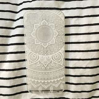 iPhone 5 White Patterned Jelly Case