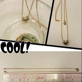 ※sale $168 >>$100韓國飾物 ,可愛心型金色頸鏈