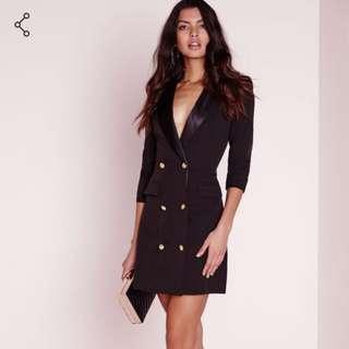 Missguided Black Blazer/Dress