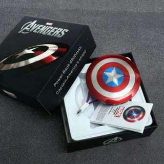 復仇者聯盟 美國隊長盾牌行動電源 盒裝 限量 免運費