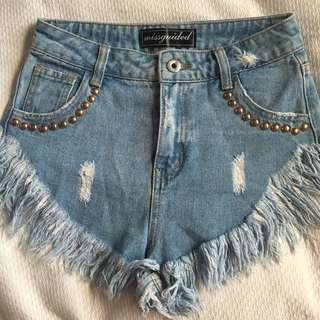 Misguided Denim Shorts