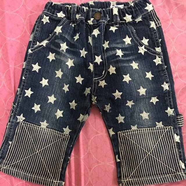 日單男童星星條紋短褲(尺寸110)