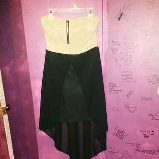 Nude And Black Sleeveless Dress