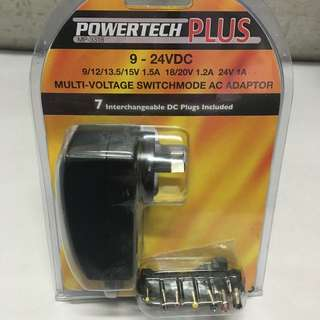 Powertech Plus Multi-voltage Switch mode AC Adaptor