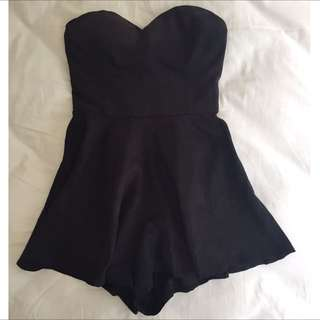 Mooloola Black playsuit