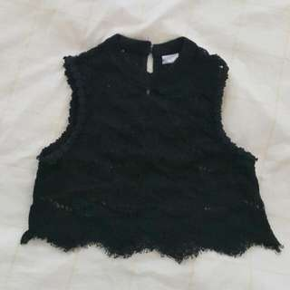 Lace Crop Top Bought From Carla Size S